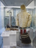 The new display with the gut parka in pride of place