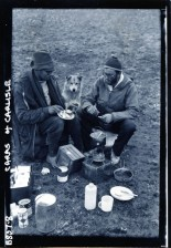 Polar Medal recipients John Rucklidge, Peter Friend (and Hundon the dog!), Cambridge Spitsbergen Physiological Expedition, 1958