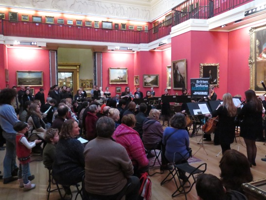 Britten Sinfonia Academy performing in Gallery 3