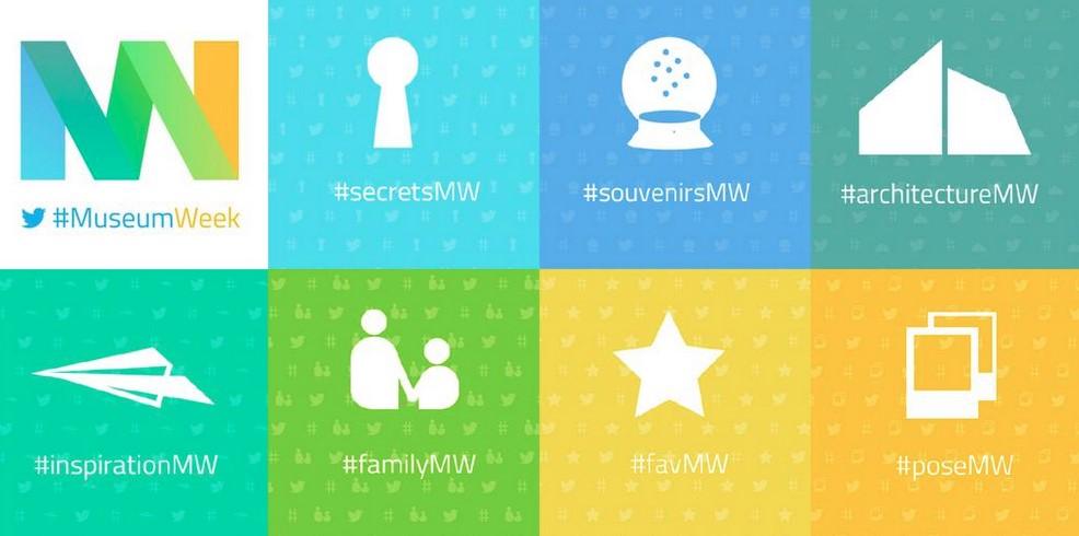 logos de los hashtags de la museum week