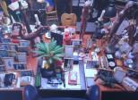 Exhibition postcard: Large studio desk, house of Hanne Darboven, Hamburg. Photo: Felix Krebs