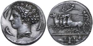 Replica of a Syracusan coin