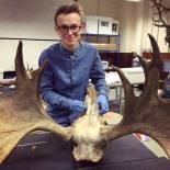 Alex with Moose Skull (1)