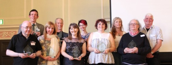 Niki Hughes with award winners from 2015