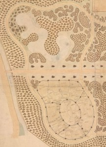 Lake detail from Murray map 1840s