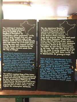 Some of the interpretation boards