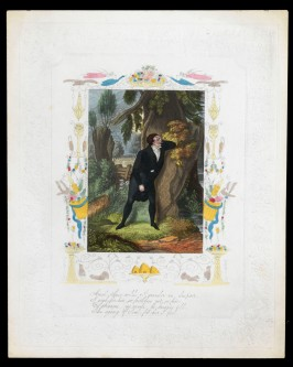 From 'The Despondent Lover' series, aquatint and etching with hand-colouring on embossed paper, probably c.1880, Bequeathed by J.W.L. Glaisher, P.14346-R-10
